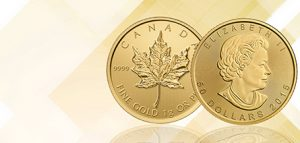 1 oz gold coin Canadian maple leaf