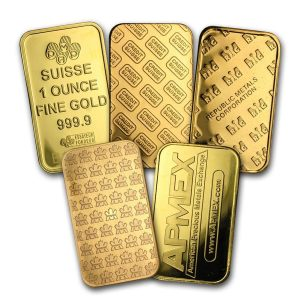 1 OZ gold Bars Back side