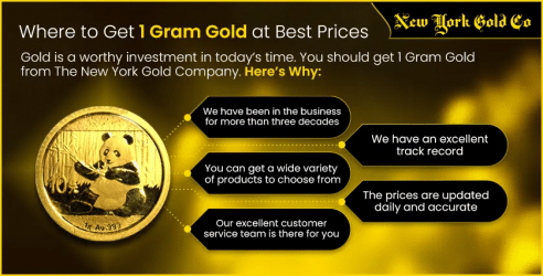 Where to Get 1 Gram of Gold at The Best Price